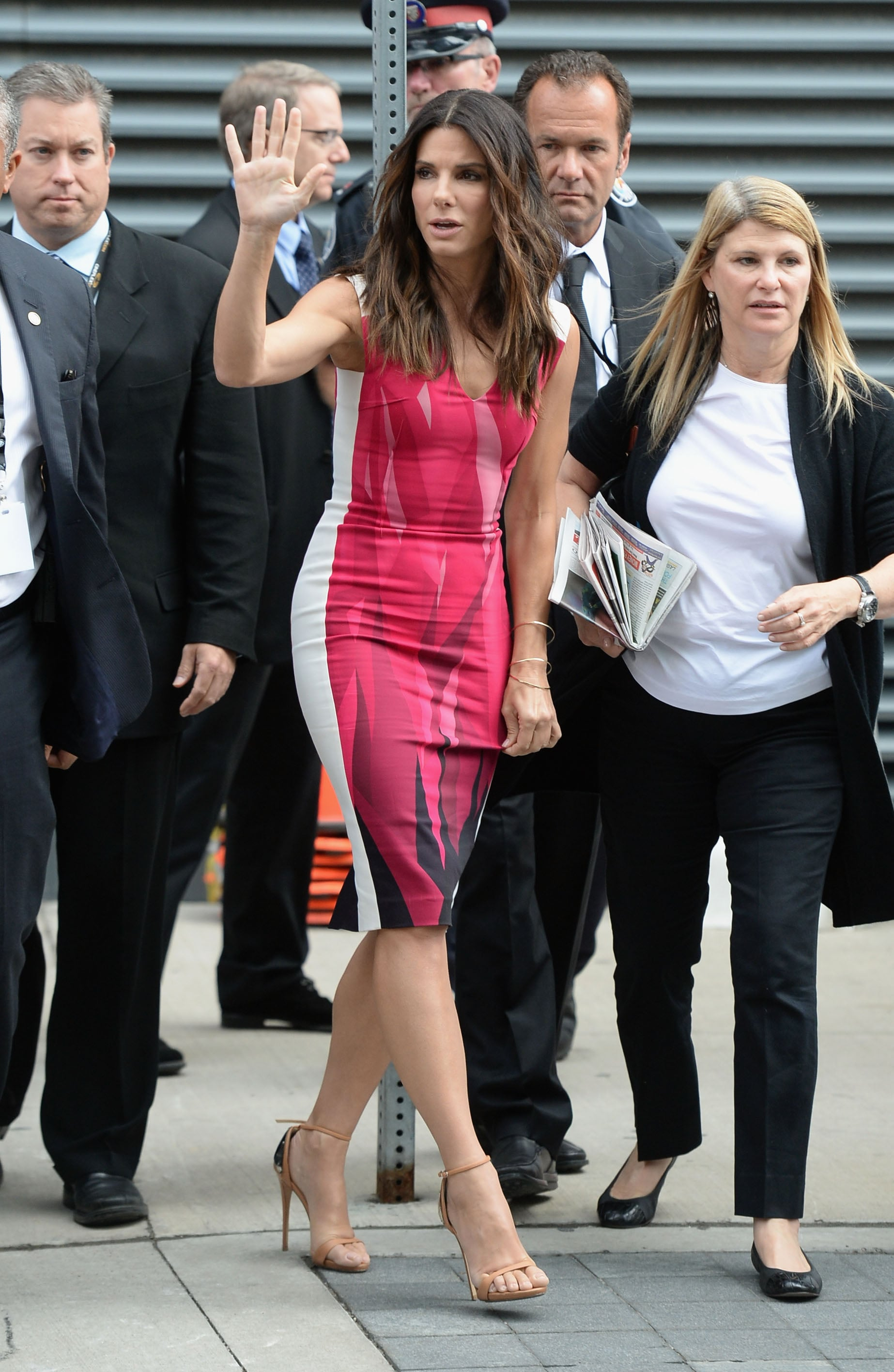 Sandra Bullock in Roland Mouret at the Toronto Film Festival