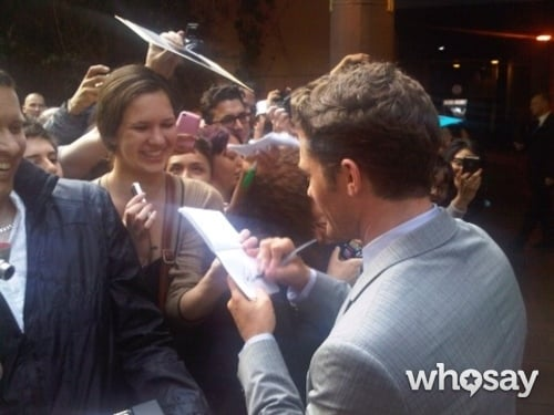 Matthew Morrison signed autographs at the London premiere of What to Expect When You're Expecting.  Source: Matthew Morrison on WhoSay