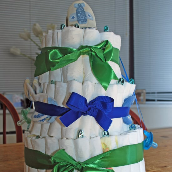 A Diaper Cake For Fashionable Friend