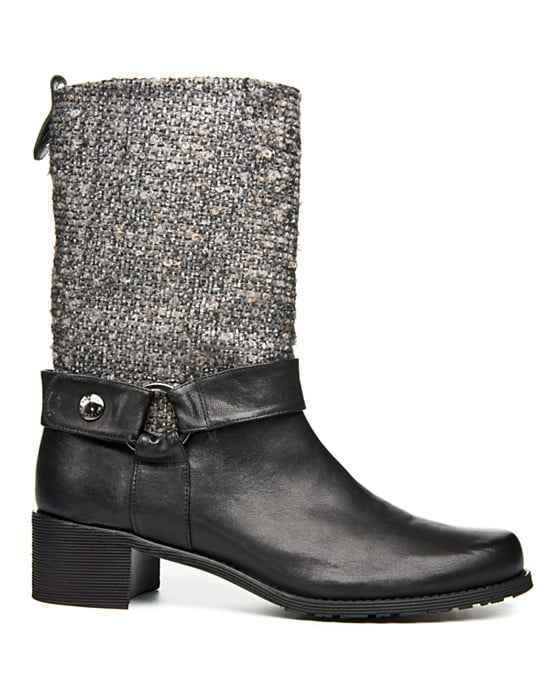 Stuart Weitzman's Moto Boots ($298, originally $425) are the perfect weekend chic option — how cool is the cozy tweed shaft?