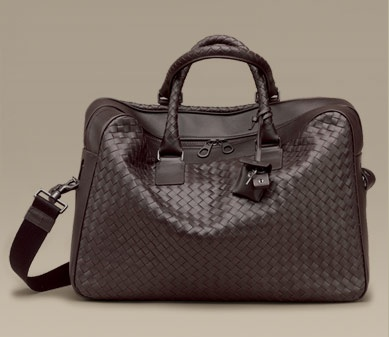 The Ultimate in Luxurious Geek: Bottega Veneta's Intrecciato Laptop Bag