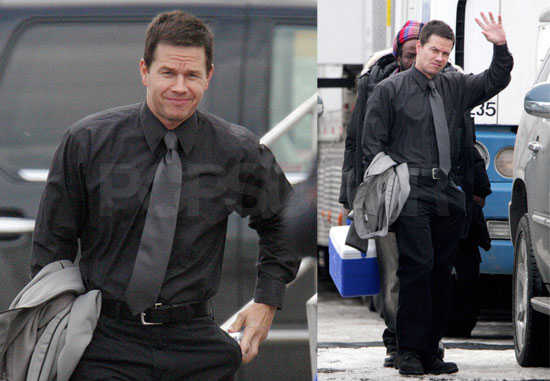 Mark Wahlberg on the Set of Max Payne in Toronto