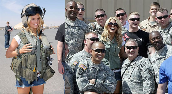 Jessica Simpson in Kuwait For Operation MySpace