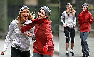 Kate Hudson and Anne Hathaway Filming Bride Wars 2008-03-31 17:00:00