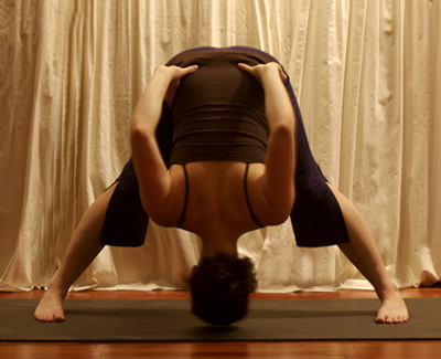 Yoga Pose of the Week: Wide-Legged Forward Bend B