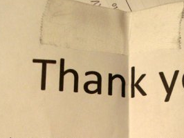 Panty Thief Thank You Note
