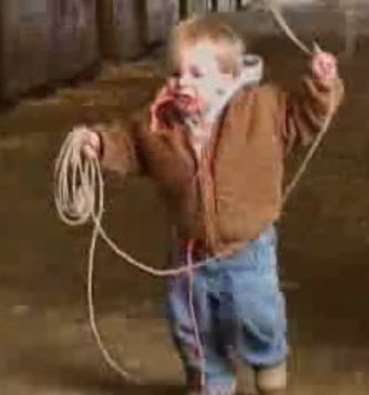 Baby Cowboy Can Rope a Calf