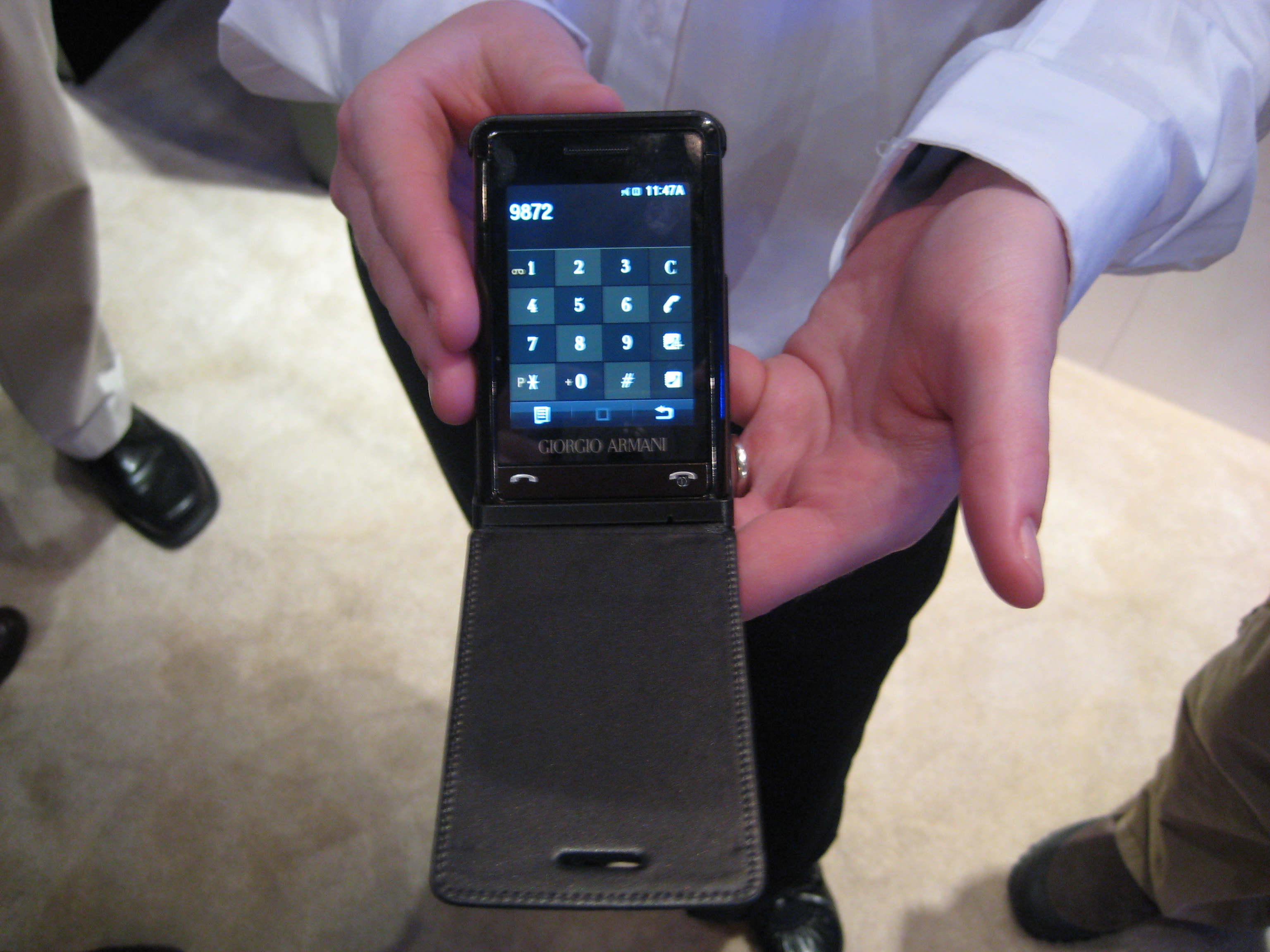 CES 2008: Hands On Samsung's Giorgio Armani Phone