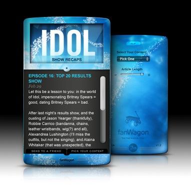 American Idol Dashboard Widget