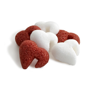 Red & White Heart-Shaped Sugar