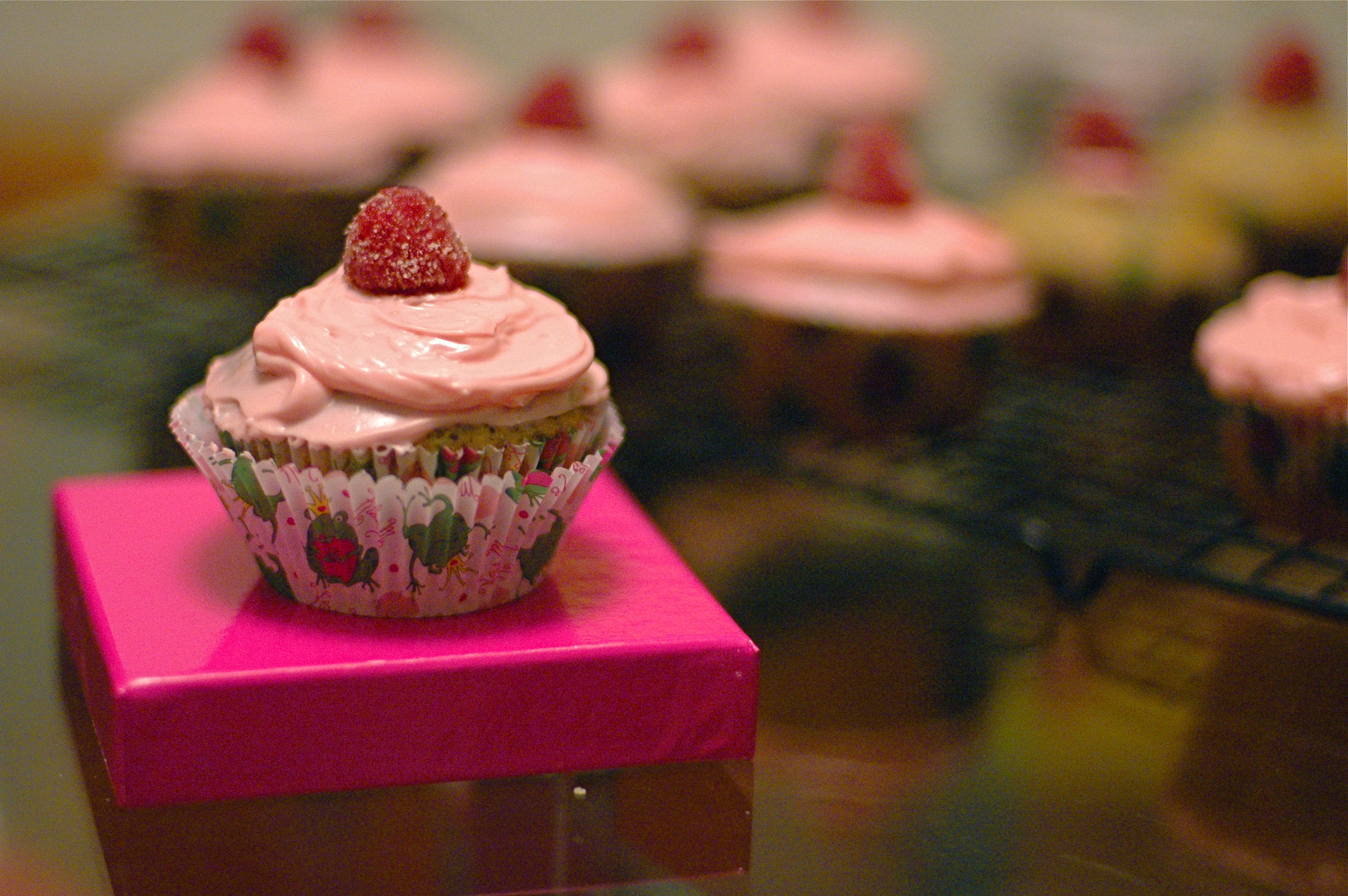An Edible Floral Arrangement — Rose and Poppy Seed Cupcakes