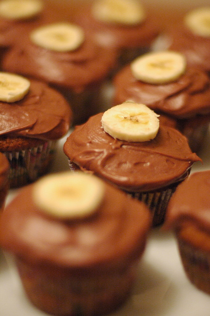 52 Weeks of Baking: Week 52 — Gooey Banana Cupcakes