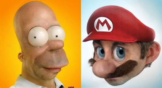 Mario and Homer Come to Life