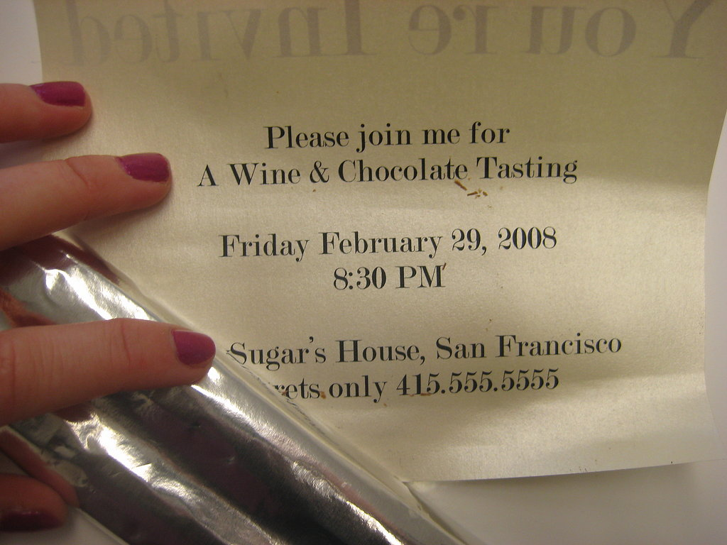 Wine and Chocolate Tasting Invite: Step by Step