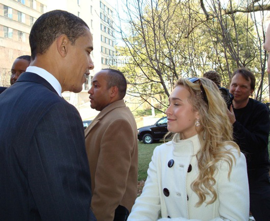 Hayden Made It to Obama After All!
