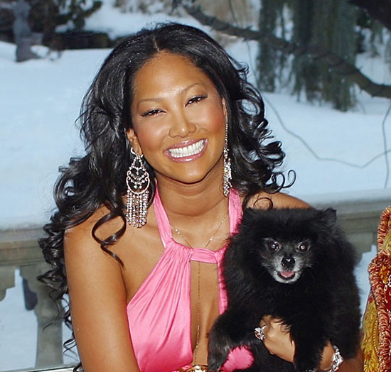 Kimora Lee Simmons and her dog, Zoe