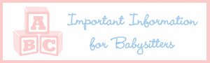 Free Babysitter Chart Download