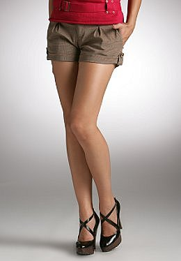Justsweet by JLo: Plaid Cuffed Short With Back Flaps