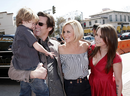 Jim Carrey accompanied Evan Asher (son of pictured mom Jenny McCarthy) and daughter Jane Carrey to his premiere.
