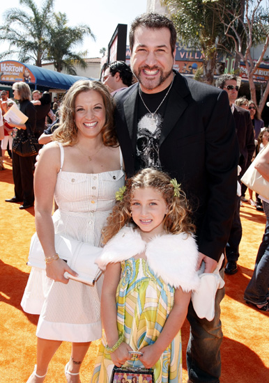 Joey Fatone took his girls, Kelly and daughter Briahna, to the <b>Dr. Seuss Horton Hears a Who</b> movie premiere.