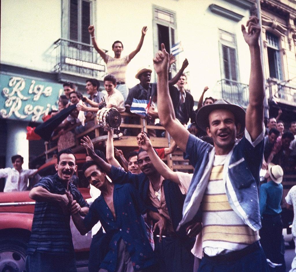 Jubilant Crowd Jubilant Crowd Gathers Havana