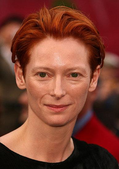 Tilda Swinton at the Oscars: hair and makeup
