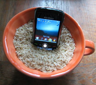 Save A Wet Phone With Rice!