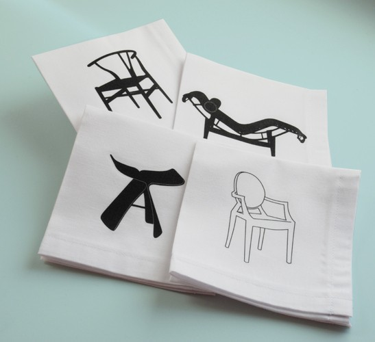 Etsy Find: Designer Chair Cocktail Napkins