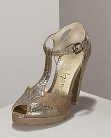 Nanette Lepore Snake-Embossed T-Strap d'Orsay�-� Accessories�-� Neiman Marcus