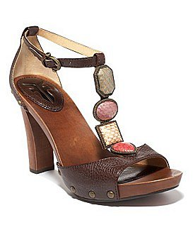 "Macy*s - Shoes - Frye ""Dolly Jeweled"" T-Strap Sandal"