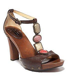 "Macy*s - Shoes - Frye ""Dolly Jeweled"" T-Strap Sandal"