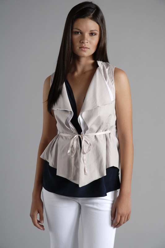 Plastic Island Drop Collar Vest