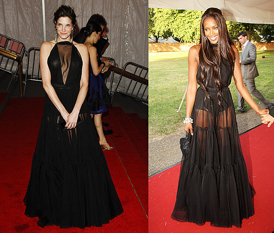 Who Wore It Better? Sheer Black Maxi Dress