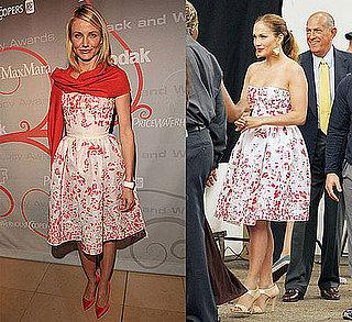 Who Wore It Better? Strapless Floral Oscar de la Renta Dress