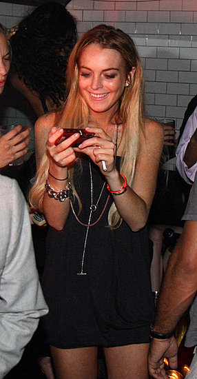 Lindsay Lohan Wearing a Lariat Necklace