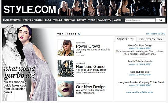 On Our Radar: Style.com Gets a Facelift
