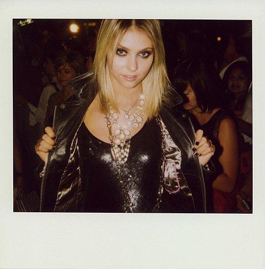 Taylor Momsen of Gossip Girl in Leather Jacket Rocker Look