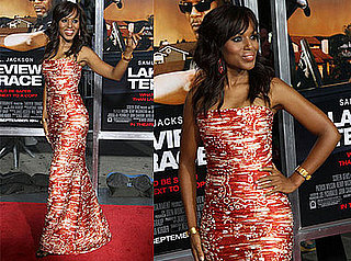 Kerry Washington at the Premiere of Lakeview Terrace in Oscar de la Renta