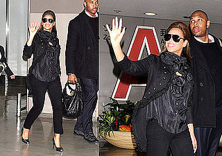 Beyonce Knowles Wears an Alexander McQueen Jacket From New York to Tokyo
