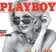 Lydia Hearst Models For French Playboy