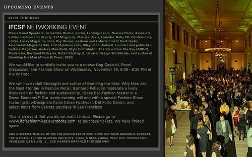 Come see Fab at the IFCSF Networking Event at the W, 11/19