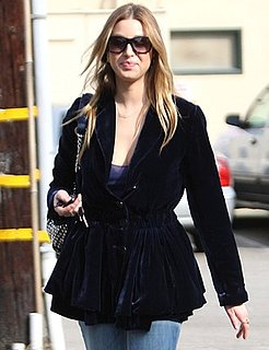 Whitney Port in LA Wearing Velvet Jacket