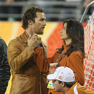 Matthew McConaughey and Camila Alves Watch the Longhorns at the Fiesta Bowl