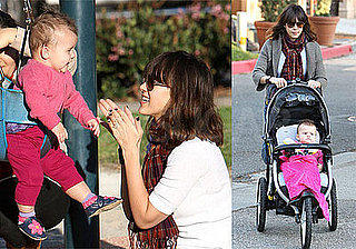Photos of Jessica Alba Playing in Park with Honor