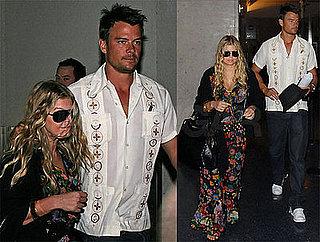 Photos of Fergie and Josh Duhamel Returning From Their Honeymoon
