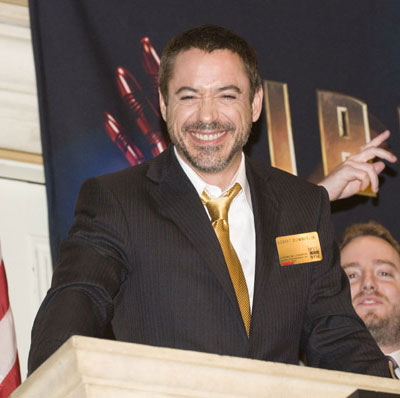 Robert Downey Jr Opens the NYSE
