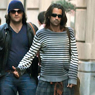 Colin Farrell Leaves His Hotel in Spain