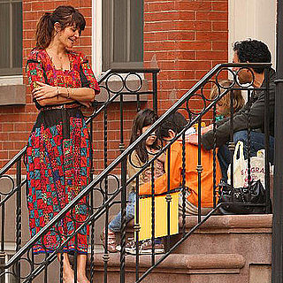 Helena Christensen and son Mingus in NYC