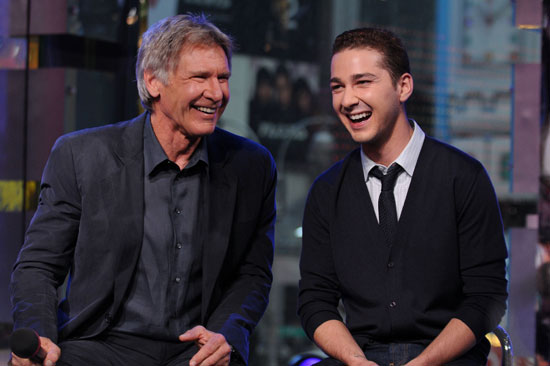 Images of Shia LaBeouf and Harrison Ford at TRL