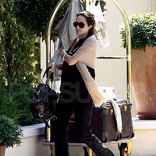 Pregnant Angelina Jolie Leaving Her Hotel in Cannes